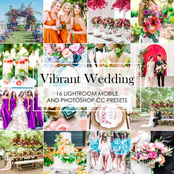 Vibrant Wedding Lightroom Presets