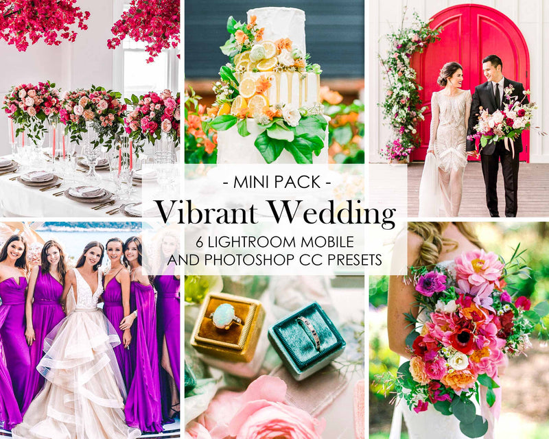 Vibrant Wedding Presets For Lightroom Mobile And Adobe Photoshop