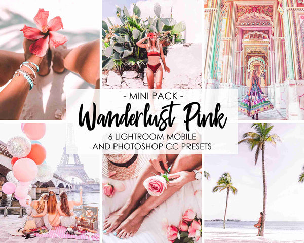 Wanderlust Pink Presets For Lightroom And Photoshop Desktop