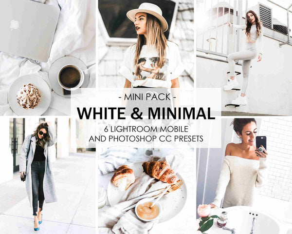 White and Minimal Presets For Bright Lightroom Photo Editing