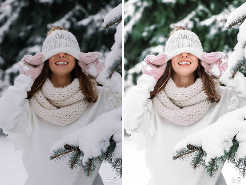 White Christmas Presets For Lightroom CC and Photoshop