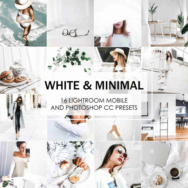 White And Minimal Presets For Clean And White Lightroom And Photoshop