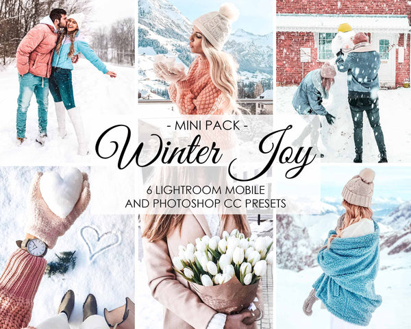 Winter Joy Presets For Photoshop And Lightroom CC