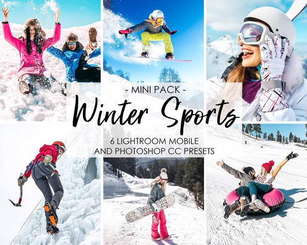 Winter Sports Presets For Adobe Photoshop CC And Lightroom