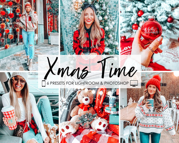 Christmas Lightroom Presets and Adobe Photoshop Filters