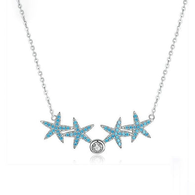 Blue Starfish Choker Necklace - ThreeSixtyZone