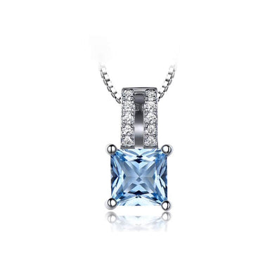 Sky Blue Topaz Necklace - ThreeSixtyZone
