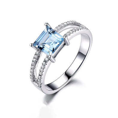 Sky Blue Topaz Ring - ThreeSixtyZone