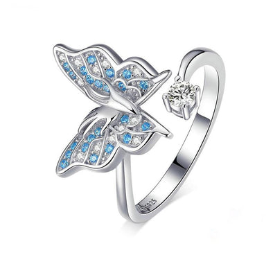 Flying Butterfly Open Ring - ThreeSixtyZone