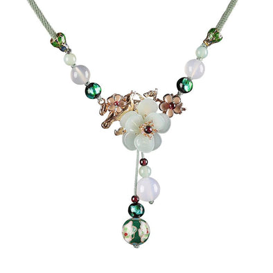 Chloe Agate Necklace (Green) - ThreeSixtyZone