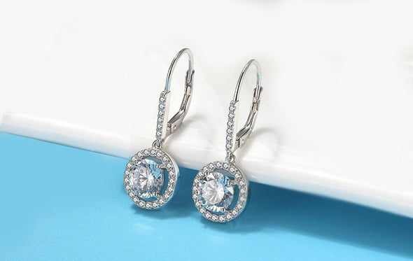 Halo Sparkle Hoop Earrings - ThreeSixtyZone