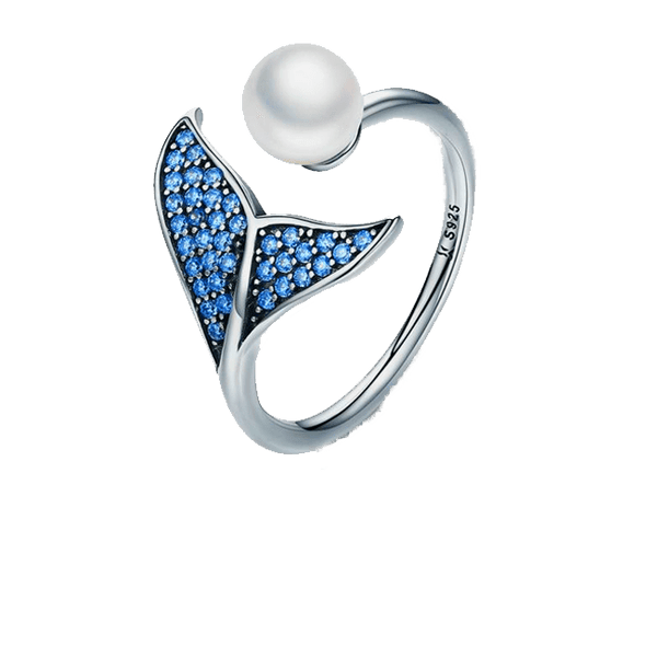 Blue Mermaid Pearl Ring - ThreeSixtyZone