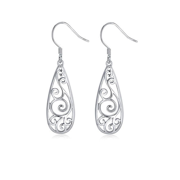 Swirly Water Droplets Earrings - ThreeSixtyZone