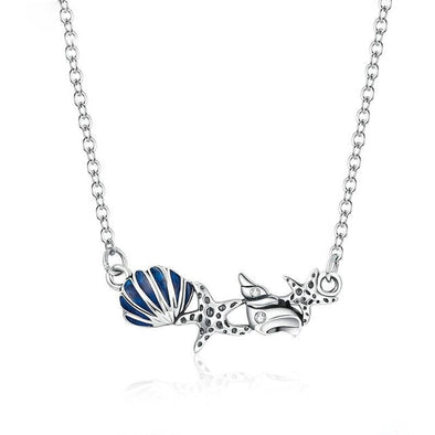 Summer Shell and Starfish Necklace - ThreeSixtyZone