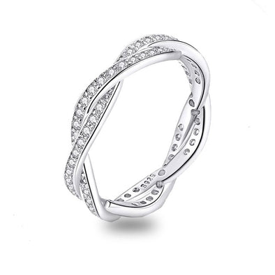 Braided Pave Ring - ThreeSixtyZone