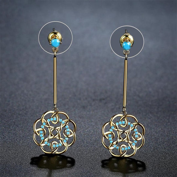 Vintage Flower Drop Earrings - ThreeSixtyZone