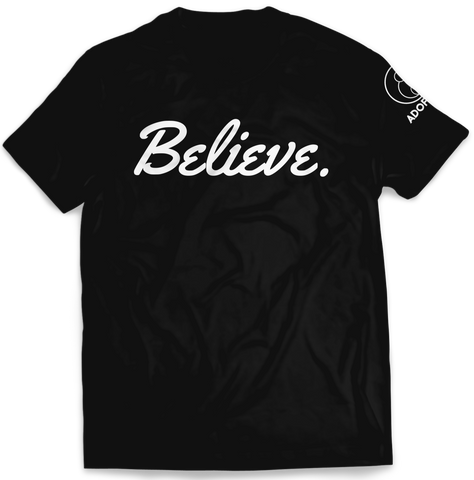 Believe Black Tee