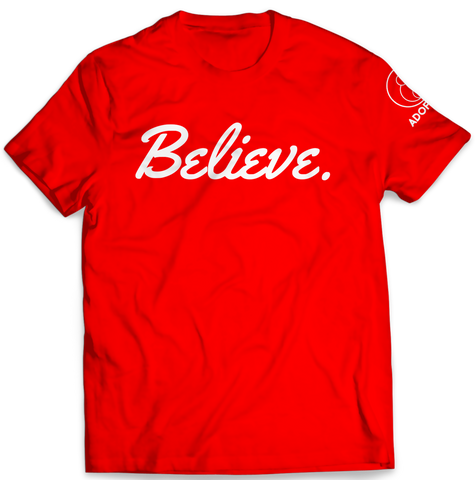 Believe Red Tee