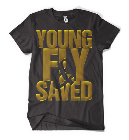 Young Fly And Saved - Black/Gold