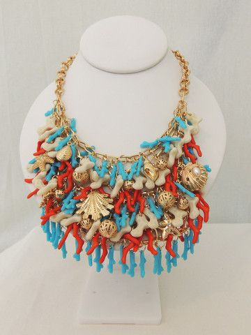 She Sells Sea Shells Bib Necklace - Daily Chic