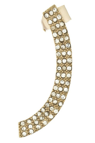 The Gold Bar Pavé Crystal Ear Cuff - Daily Chic