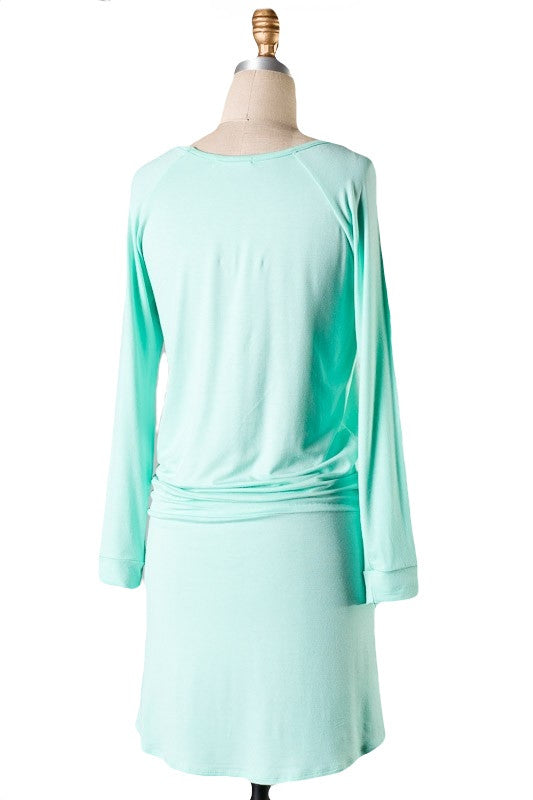 The Weekender Tie Waist Dress - Mint - Daily Chic