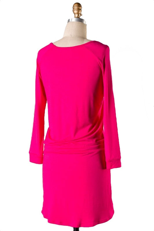 The Weekender Tie Waist Dress - Pink - Daily Chic