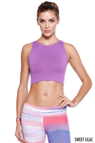 Be Legendary Fit Crop Top - Sweet Lilac - Daily Chic