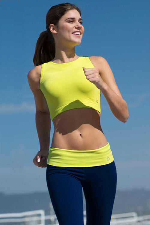 Be Legendary Fit Crop Top - Chartreuse - Daily Chic