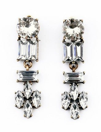 Hampton Drop Earrings - Crystal