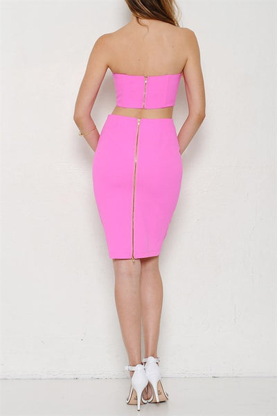 South Beach Two Piece Set - Hot Pink - Daily Chic