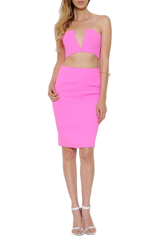 South Beach Two Piece Set - Hot Pink