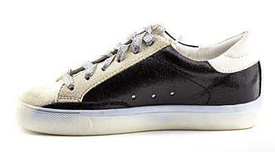 Shine Super Star Sneakers - Black + Metallic Silver *PRE ORDER SHIPS 10/25* - Daily Chic