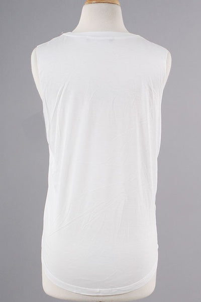 Health Goddess Tank - White - Daily Chic