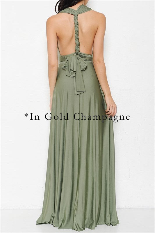 Tie It Your Way Interchangeable Maxi Dress - Chambray