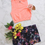 Be Legendary Fit Crop Top - Electric Pink