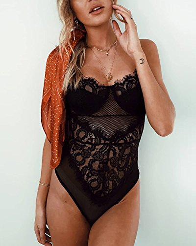 Skye Lace Bodysuit - Black - Daily Chic