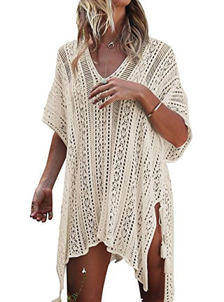 St. Tropez Bikini Beach Cover Up - Beige or Black - Daily Chic