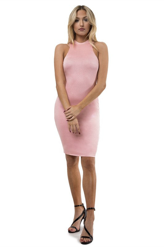 Celeste Racerback Dress - Blush