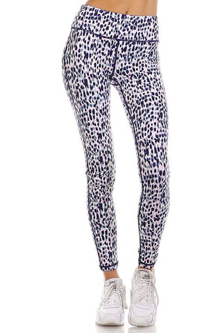 Wild & Free Print Leggings - Multi - Daily Chic
