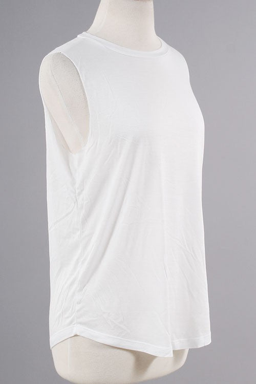 Back At It Again Tank - White - Daily Chic
