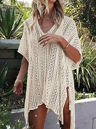 St. Tropez Bikini Beach Cover Up - Beige, Blush, Blue, Hot Pink, Off White or Black - Daily Chic