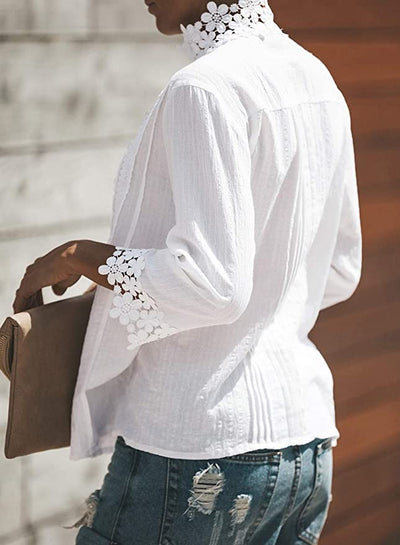 Cozumel Lace Blouse - White - Daily Chic