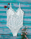 Skye Lace Bodysuit - White - Daily Chic