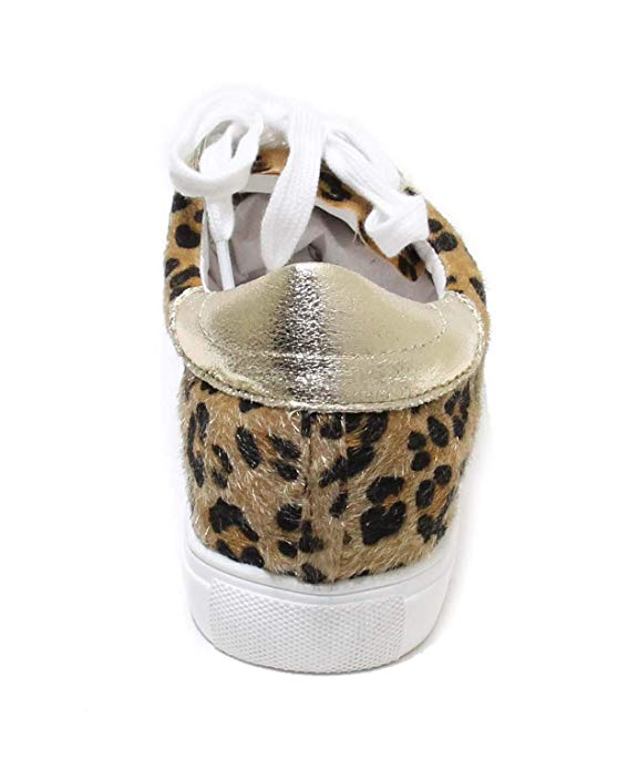 Shine Super Star Sneakers - Leopard + Gold + White - Daily Chic
