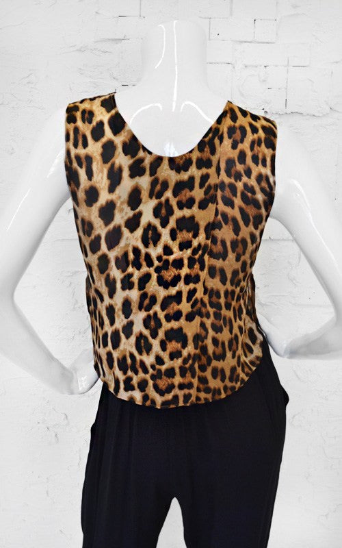 Show Your Spots Leopard Print Crop Top - Daily Chic