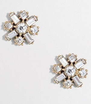 Aurora Cluster Stud Earrings - Crystal