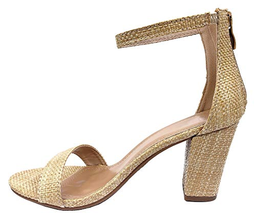 Baha Mar Ankle Strap High Heel Sandal - Natural Raffia - Daily Chic