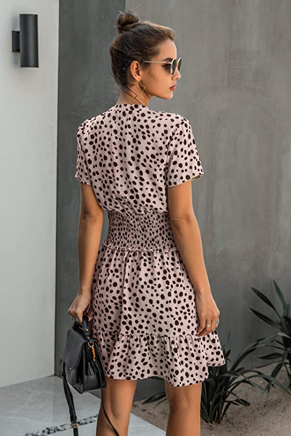 Diana Smocked Polka Dot Dress - Daily Chic