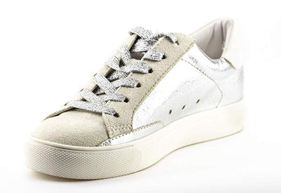 Shine Super Star Sneakers - Metallic Silver *PRE ORDER* - Daily Chic